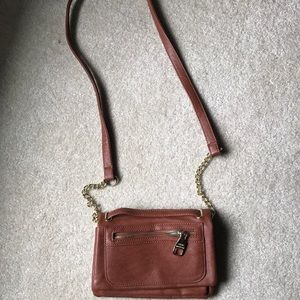 Steve Madden cross body faux leather chain purse